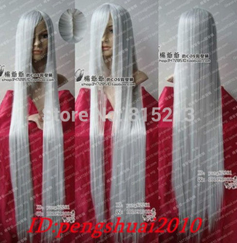 dd009044 Series Luxurious Silver White Long Cosplay Lady's Hair Wig Wigs D0315(China (Mainland))