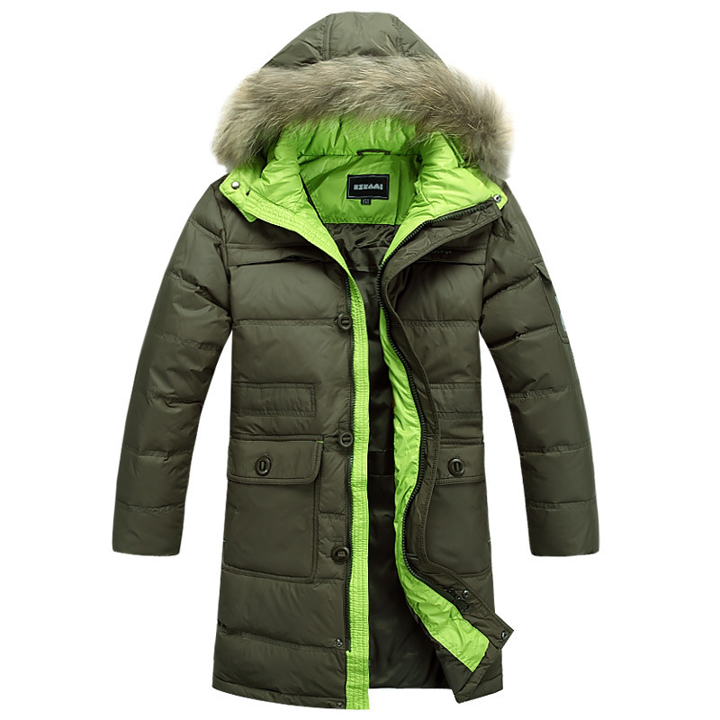 2015 new arrival brand 90% white duck down boys winter jacket fur hoodies child outerwear kids down parkas long thickening coat<br><br>Aliexpress