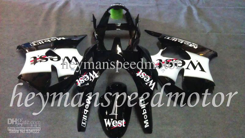 INJECTION MOLDING Fit For KAWASAKI west black Body Kit ZX6R 00-01 02 ZX-6R 2000 2001 2002 ZX 6R 2000-2002 ABS Fairing Plastic Bo(China (Mainland))