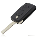 Car Electronics parts 2 Button Folding Remote Car Key Shell Case For Citroen C2 C3 C4
