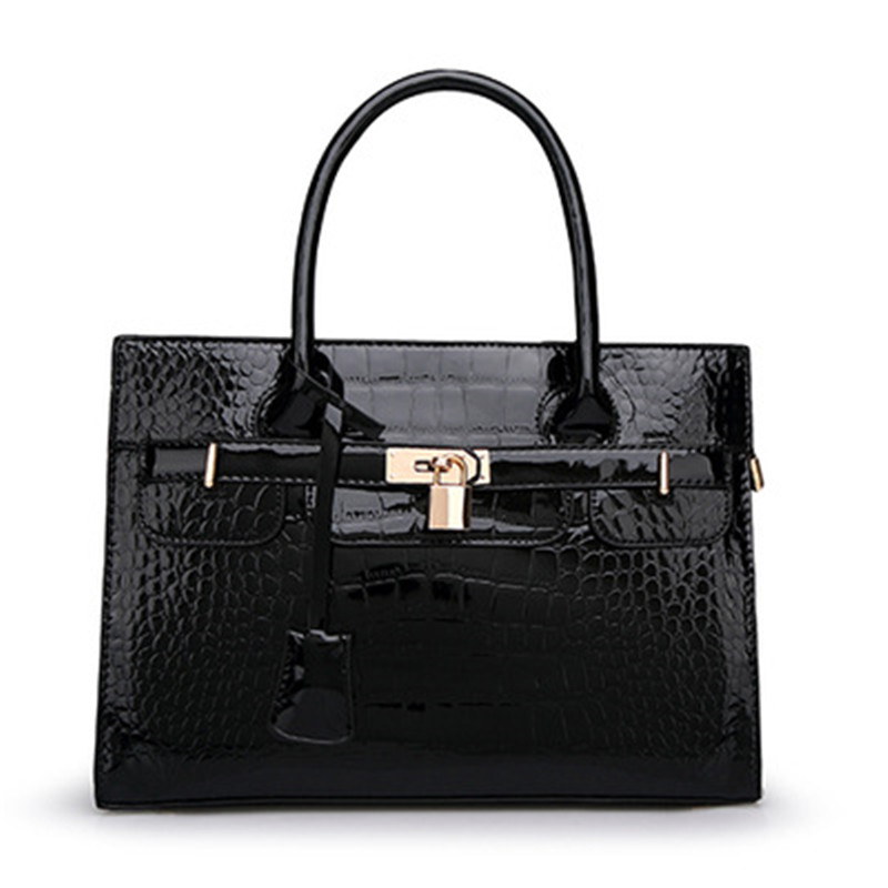 2015 Women Crocodile Leather Heandbags Hand bag Sac Ladies Vintage Casual Crossbody Shoulder Messenger Bags Tote Handbag - BEAUTY BAG CO.,LTD store