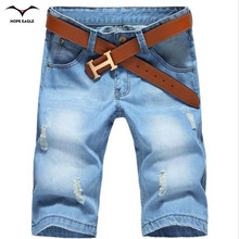 New 2016 summer dress shorts men fashion leisure all-match Light-colored denim shorts XL five pants Korean straight loose