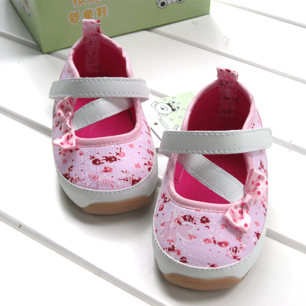 100% cotton total baby toddler shoes rubber soles single shoes 8856a<br><br>Aliexpress