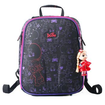 Высокое качество Прекрасные дети бесплатно Кукла красивая школьная сумка девушки студенты творческий путешествия рюкзак дети мультфильм мешок Канцелярских Товаров