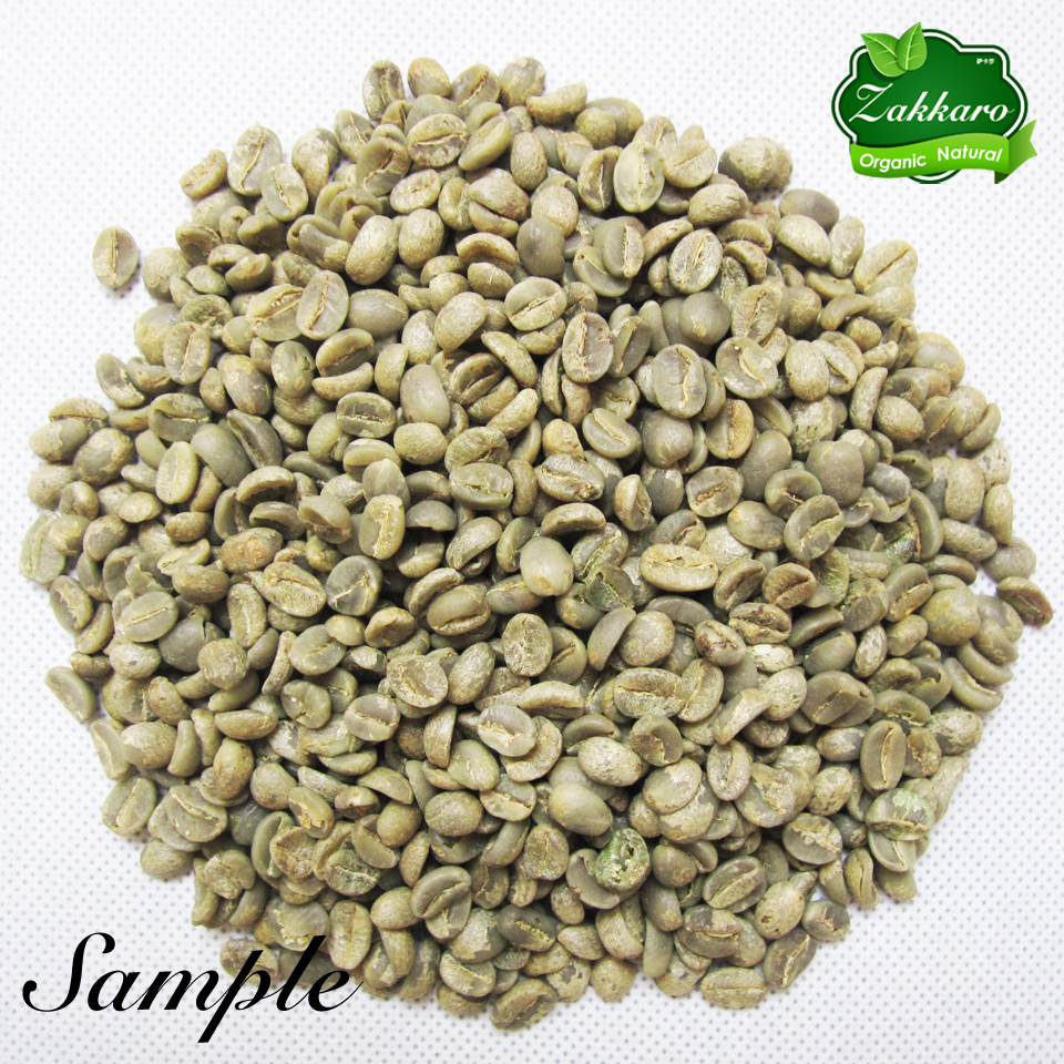 Raw Typica Quality Yunnan China Arabica pod silver plated Coffee pot Beans From 1200M High Elevation