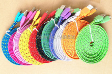 Buy High 2m 6ft flat textile braided nylon woven v8 micro usb sync data charger cable cord Samsung phone for $1.25 in AliExpress store