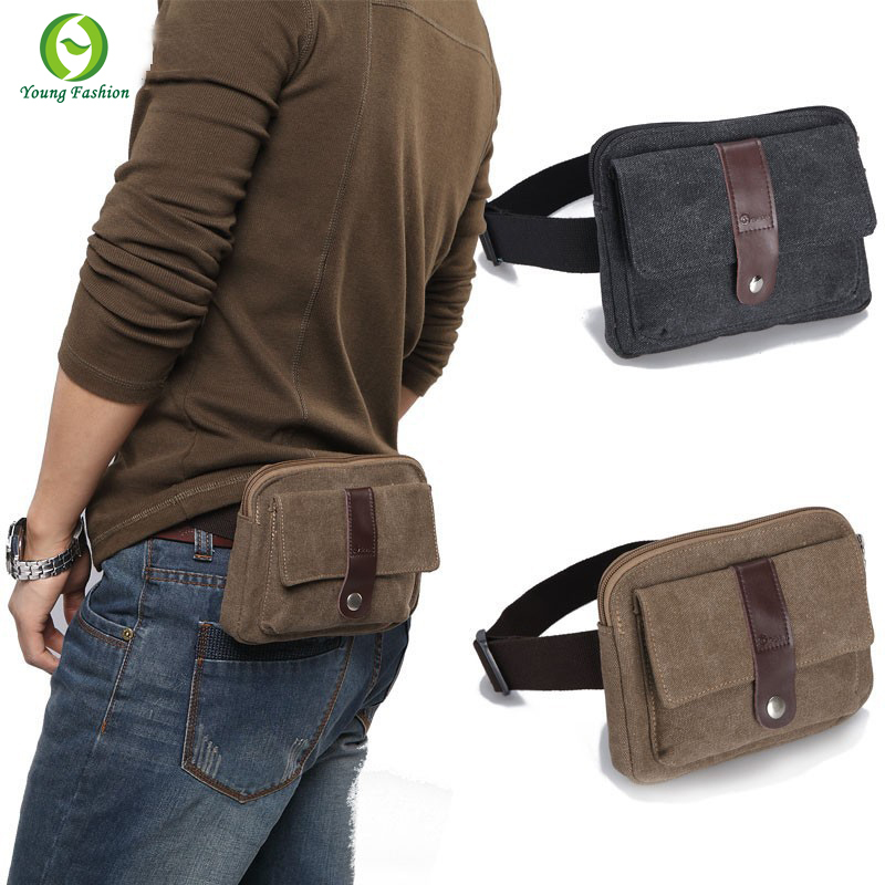 new 2015 fashion canvas small men messenger bags outdoor sports Waist Packs bag casual Hasp Cover mini men's travel bags(China (Mainland))