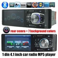 """2015 new Car Radio Player with Steering wheel controller,4.1""""HD  FM/USB/1 Din/remote control port 12V Car MP3/MP4/MP5,bluetooth(China (Mainland))"""