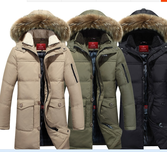 Фотография Free shipping !!!The man with long down jacket Male new winter thickening over-the-knee big yards down jacket to keep warm coat