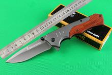 Новый тепловой Браунинг FA17 открытый кемпинг нож твердость: 58HRC Материал ручки: сталь + Все красный палисандр 440C бесплатная доставка