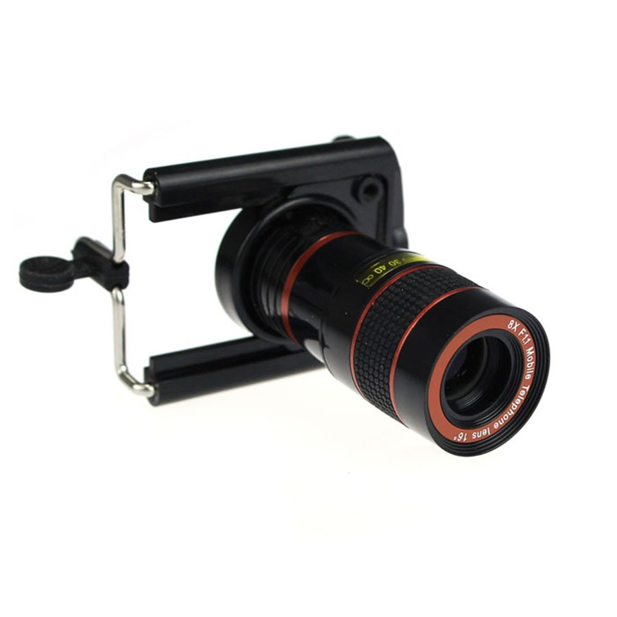 High Quality Mobile Phone Lens 8X Zoom Telescope Telephoto Camera Lens Stretch Clip for iPhone 6s 6 Plus 5 5S Sumsung HTC
