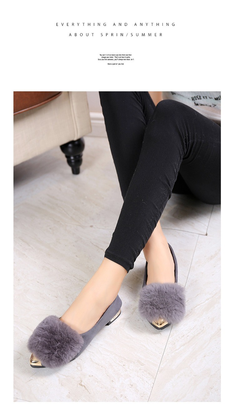 2016 autumn and winter new simple pointed shoes female fashion women flat shoes women casual comfortable plush shoes, free shipp