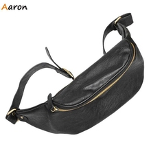 Aaron – Brand New Korean Zipper Rivet Men's Waist Bags,Double Zipper Design Men Bags,Fashion Leather Students Men Shoulder Bags