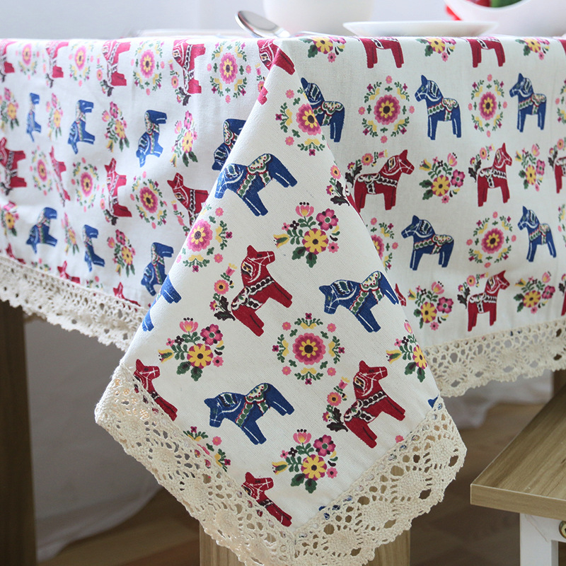Vintage Linen Lace Tablecloths Rectangular Trojan Printing Floral Cover Table Cloths nappe tovaglia toalha de mesa Freeshipping(China (Mainland))