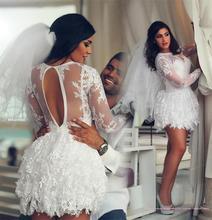 Buy Robe De Mariage 2017 Sexy Backless Mini Boho Summer Beach Wedding Dresses Vestidos De Novia See Short Wedding Gowns 2017 for $90.16 in AliExpress store