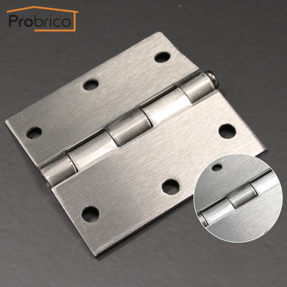 "Probrico 100 PCS Satin Nickel Door Hinge DH3535SN00 Satin Nickel 3.5"" x 3.5"" Furniture Hinge USA Domestic Delivery(China (Mainland))"