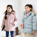 Classics 2016 Girls Cotton padded Clothes Children Winter Jackets Toddler Baby Coats The Genuine Fur Color