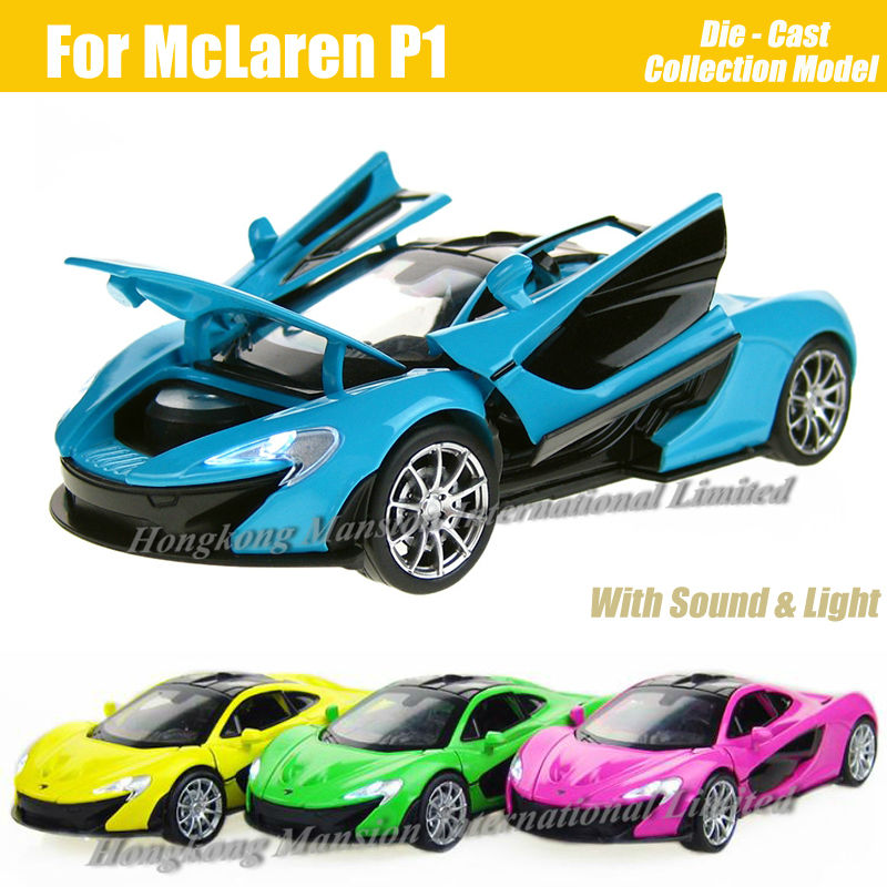 1:32 Scale Diecast Alloy Metal Super Racing Car Model For McLaren P1 Collection Model Pull Back Toys Car With Sound&Light(China (Mainland))