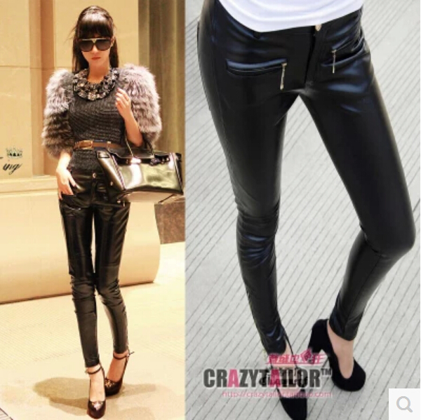 Free shipping !!! Beyond ordinary Europe the United States feet locomotive carry buttock pencil pants Female leather pants XS-LОдежда и ак�е��уары<br><br><br>Aliexpress
