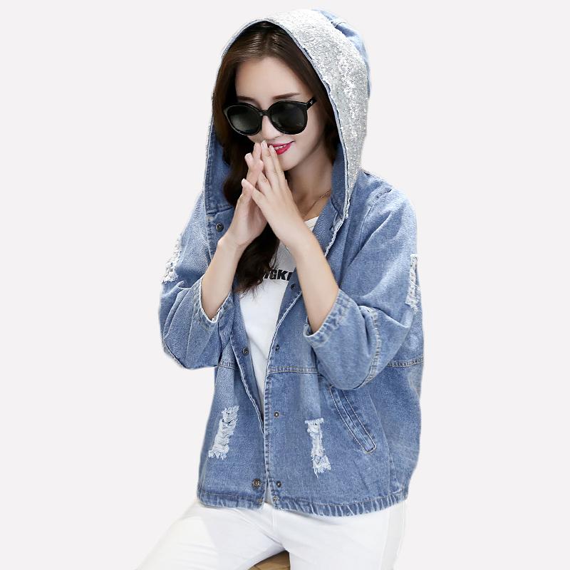 Compra chaqueta de jean camisas online al por mayor de for Agujeros femeninos