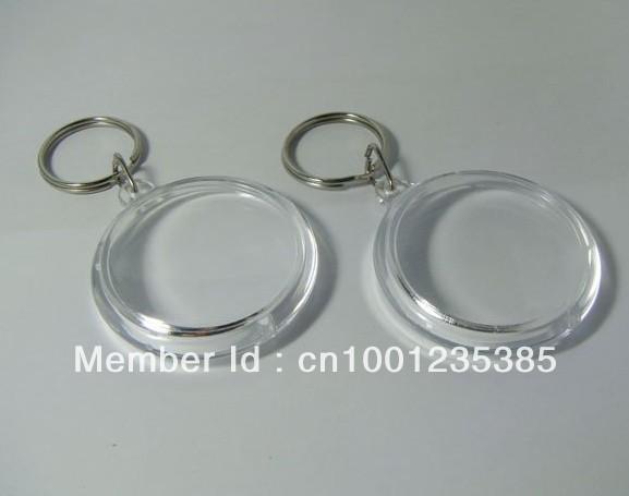 Free shipping 100pcs Blank Acrylic Round Circle Keychains Insert Photo Keyrings 1.8/4.6cm<br><br>Aliexpress