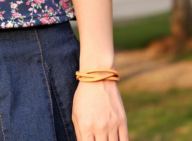 Корея новый стиль Плетеный кожаный многоцветные мужчин женщин шарм браслеты Модные pulseiras braceletes Браслеты