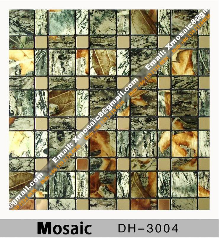 Aluminum wall mosaic dh 3004 interior ceiling and wall for Decoration pieces from waste material