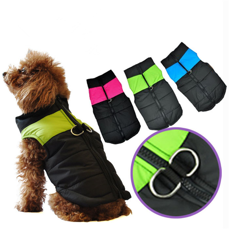 Zip-up New Winter Warm Pet Dog Clothes Small Waterproof Dog Coat Jacket Winter Quilted Padded Puffer Pet Clothes Jacket(China (Mainland))