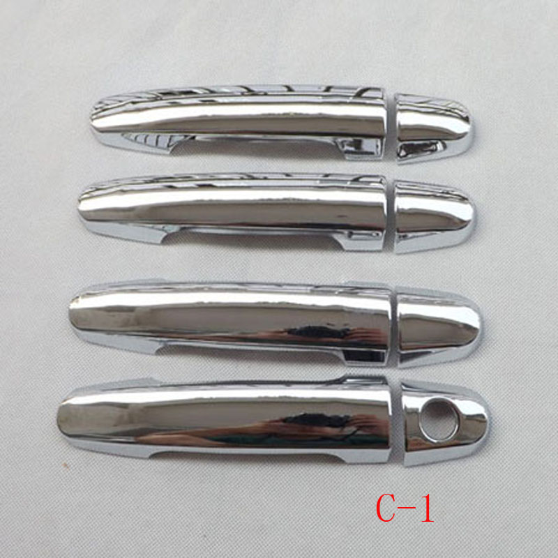 Free shipping ABS chrome door handle cover For Toyota COROLLA 2008 2010 2012 auto accessories 8 pcs(China (Mainland))
