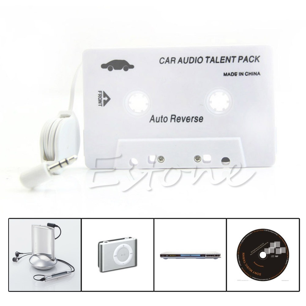 Cassette Car Stereo Audio Tape Adapter 3.5mm Aux For iPod iPhone MP3 CD Player Free Shipping(China (Mainland))