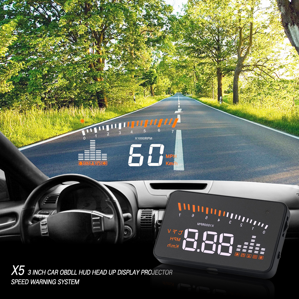 Universal Car Auto Hud Head Up Display Projector With Odb2 Obd ii Interface Speed Warning System Quality Vehicle Speed Alarm(China (Mainland))