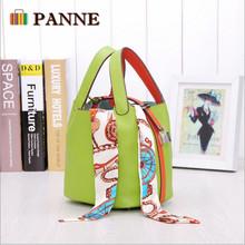 H Genuine Leather Basket Bag Women Handbag Tide Brand Embossed Handbags Bucket Bags Fashion Woman Bags