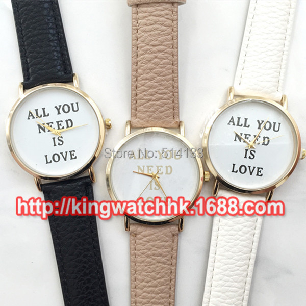 15pcs/lot Fashion No Logo Casual Watch All You Need Is Love Leather Watch New Arrival Wrap Quartz Dress Watch Wholesale Price<br><br>Aliexpress