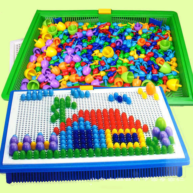 Creative Peg Board with 296 Pegs Model Building Kits Building Toy Intelligence for kids BS88(China (Mainland))