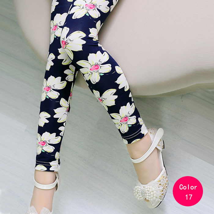 Wholesale Flowers Floral Printing Girls Leggings Pants Spring Summer Autumn Children's Fashion Leggings(China (Mainland))