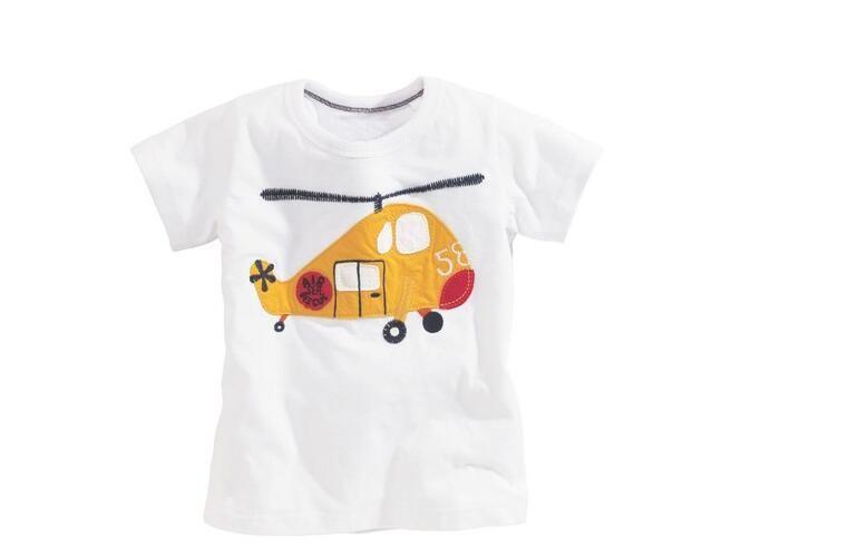 2016 tiskok Retail Brand Cotton Girls T shirts For Baby Girl Summer Short Sleeve Children Kids Clothes Blouse  Free Shipping