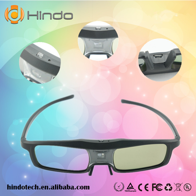 3D Eyewear Active Shutter Glasses DLP LINK SYNC Operation For Optoma HD67N GT750-XL Projector(China (Mainland))