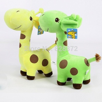 2014 Hot 1PC Toddlers Baby Soft Plush Toy Cute Giraffe Colorful Doll Gift 18cm Small , BP55-S - Delicate store