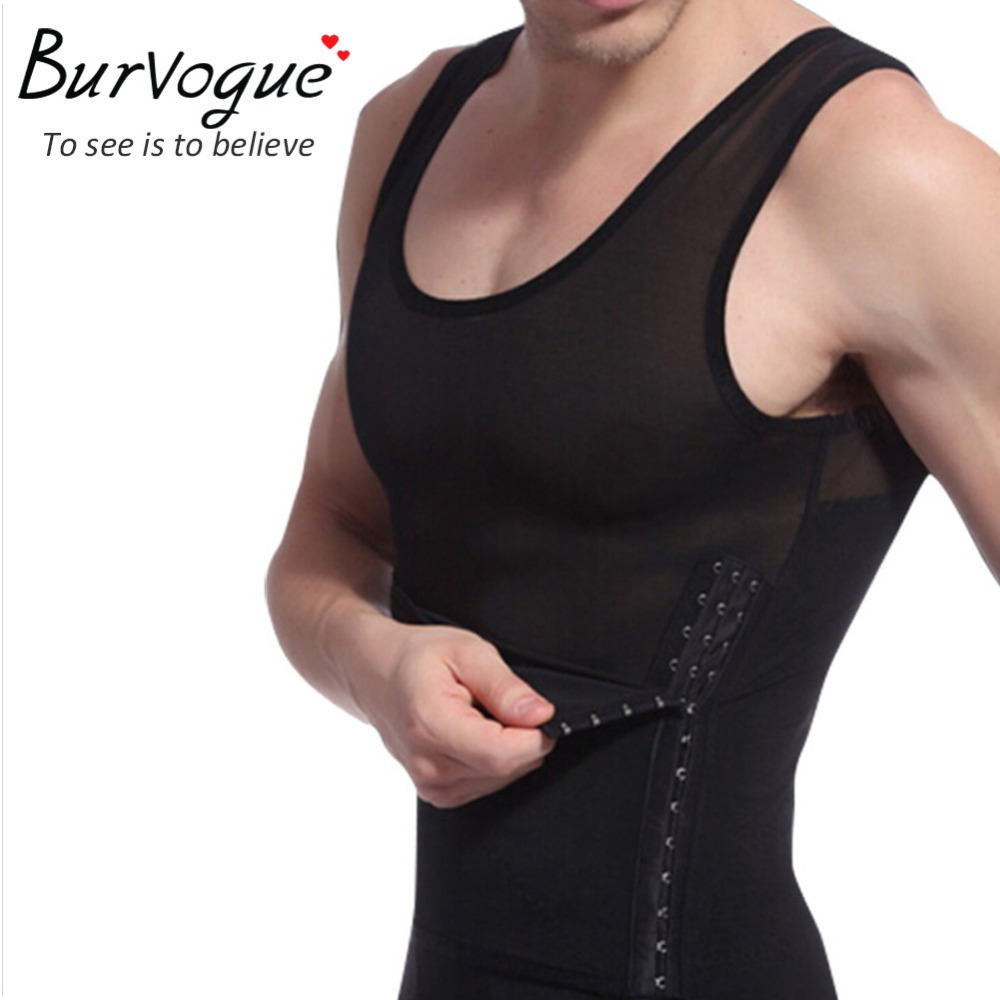 2015 hot men shaper vest slimming body shaper waist cincher tummy control girdle shirt underwear belly sport shaperwear tank top(China (Mainland))
