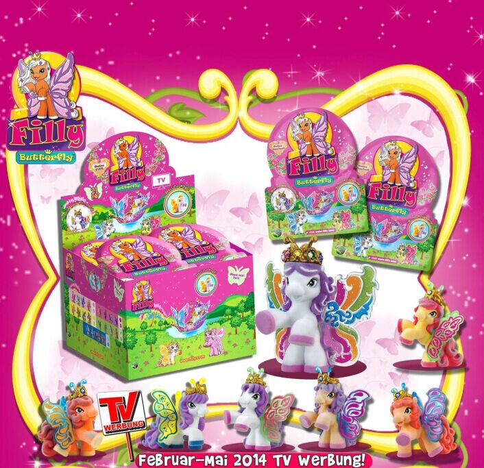24Pcs/set Simba Filly Glittery Butterfly Series Horses Original Packaging Flocking Little Horse Dolls Set Kid Christmas Toy Gift(China (Mainland))