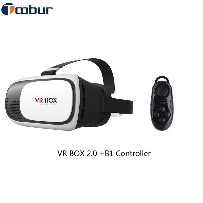 [With Retail Box]Toobur Headset Google Cardboard HD VR Box 3D Virtual Reality 2.0 II,Glasses+Bluetooth Remote Gamepad Controller(China (Mainland))