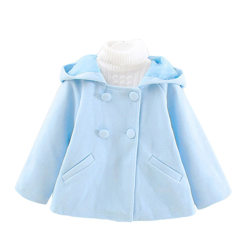 Kids Toddler Baby Girls Outfit Wool Hooded Long Sleeves Coat Parka Outwear 1-4Y New<br><br>Aliexpress