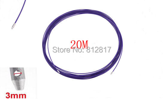 20 Meter Long 3.5mm Dia Purple Plastic Draw Tape Through Conduit Cable Puller(China (Mainland))