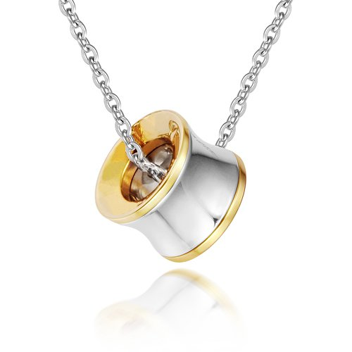 Most Celebrated Designer Stainless Steel Pendant Necklace,In 18K Yellow Gold With Shiny Steel.Womens Vintage Necklace Jewellery(China (Mainland))
