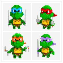 4pcs/set LOZ TMNT toys building blocks small Ninja Turtles figure Toys(China (Mainland))