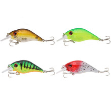 10g 7.5cm 3D Eyes Lifelike Hard Fishing Lure Chubby Crank Bait Tackle with Treble Hooks Pesca Lure
