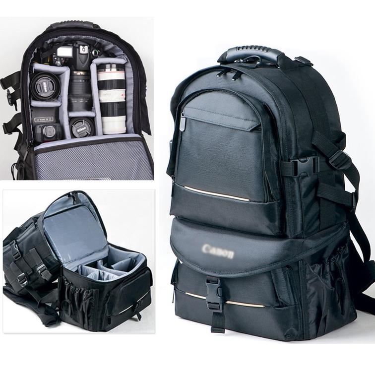 Large Professional Mens Womens Waterproof DSLR SLR Digital Camera Travel Backpack Bag Insert Fit Canon EOS Nikon Sony Pentax(China (Mainland))