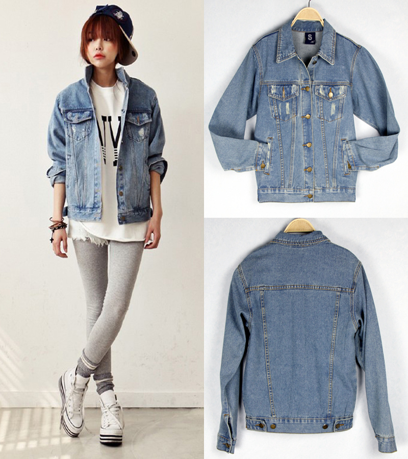 2015 New In Women S Denim Coats Korean Style Casual Personality Vintage Style All Match