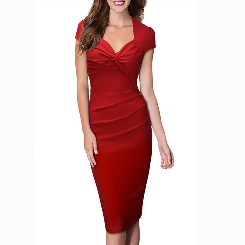 New Sale 2016 Womens Elegant OL temperament star with dress Slim wear to Business Party Casual Sheath Pencil Dress LYQ171(China (Mainland))