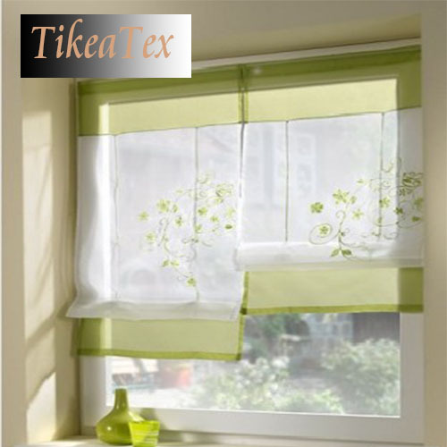 1pc Hot Sales Embroider Voile Curtains Short curtains for Kitchen Window cortinas Roman Blinds Roller Blinds(China (Mainland))